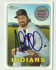 Cleveland Indians ANDREW MILLER  Signed 2018 Topps Heritage Card #287