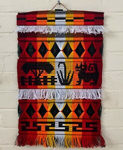 Hand loomed cotton blind made by the Otavalan Indians of Ecuador Wall Hanging