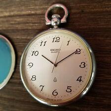 Authentic Seiko Quartz Pocket Watch 2621-0120 Dress Formal Serial #000543
