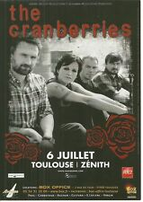 FLYER PLV - THE CRANBERRIES : CONCERT LIVE 2012 TOULOUSE ( FRANCE )
