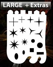 airbrush stencil Sparkle Stars Shapes Freehand Template Stencils Spray Vision