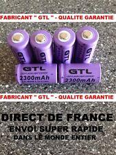 6 Piles 16340 3.7V 2300mAh Rechargeable Mignon - GTL - TRES PUISSANT - DE FRANCE
