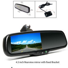 """4.3"""" Auto Dimming TFT LCD Auto switch to Rear View Mirror Camera Night Vision"""