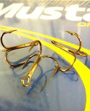 Mustad Treble Hooks, 35656BR,  Size #4, (50 Count)