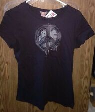 SoSik Black Shirt.  Peace Sign. Size XL