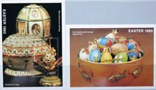 GHANA 1993 Block 218-19 S/S 1535-36 Easter Ostern Religion Faberge Eggs MNH