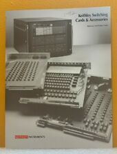 Keithley Instruments Switching Card Amp Accessories Catalog
