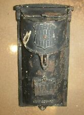 WWII-ERA Patriotic Locking Wall Mounted Household Letter Mail Box - Antique