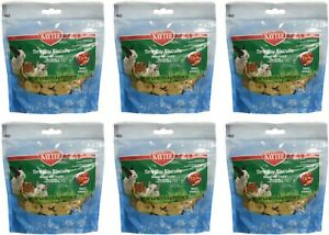 Kaytee Timothy Biscuits Baked Treat Apple, small animal, 4 oz each (6 Pack)