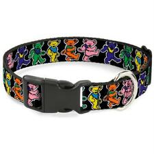 Buckle-Down Grateful Dead Dancing Bears Pet Collar - Medium