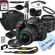 Nikon D5600 DSLR Camera with 18-55mm VR Lens + 32GB Card, Tripod, Case ,& More