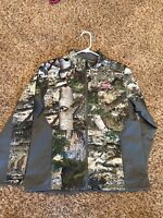 Women's Mossy Oak Camo Camouflage Warm Jacket Coat Pink Size L