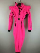 Women's ASOS 4505 Fitted/Belted Ski Suit w/Faux Fur Hood, Size 2 -Hot Pink/Black