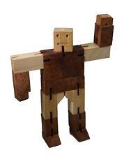 4 Knobelspiele im Set 3D Puzzle Holz Würfel Denkspiele Geduldspiele Geschenkbox 3D Puzzles