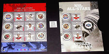 2001 NHL ALL STARS 2 #1885 in original souvenir folder << FULL SHEET >> CV$8