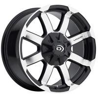 "4-Vision 413 Valor 17x8.5 8x170 +0mm Black/Machined Wheels Rims 17"" Inch"