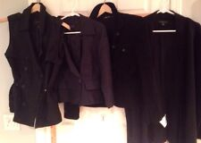 Women's Med Black Banana Republic Merino wool poncho