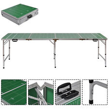 8Ft Aluminum Portable Folding Beer Pong Table Home Party Picnic Drinking Game