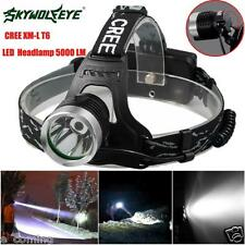 Sky Wolf Eye Rechargeable 5000Lm CREE XM-L XML T6 LED Headlamp flashlight 18650
