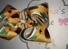 Girasol /sunflower hair bow / moños
