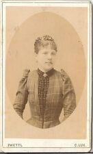 C. Lux CDV photo Damenportrait - Zwettl 1880er
