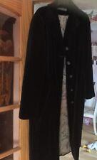 Black Velvet Coat. Size 14 River Island good condition