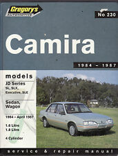 HOLDEN CAMIRA JD SERIES 1984-1987 SERVICE & REPAIR WORKSHOP MANUAL