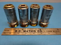 LOT ZEISS GERMANY EPIPLAN OBJECTIVE 10X OPTICS MICROSCOPE PART AS IS #90-68