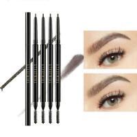Waterproof Eyebrow Black Dark Brown Light Brown Pencil Makeup Spoolie with A8B7