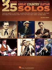 25 Great Country Guitar Solos - Transcriptions  Lessons  Bios  Photos BK/CD, Dav