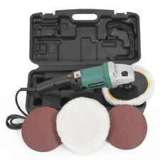"7"" Electric Polisher Buffer Sander 6 Speed 3100RPM Auto Boat Paint Detail w/Case"