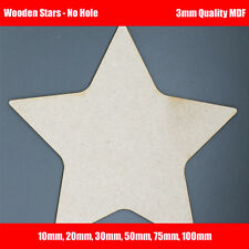 Wooden MDF Star Shapes for crafts, decoupage, cut out blanks. Signs, cards, tags