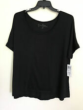 New Jessica Simpson Woman's Dolman Sleeve Knit Top Black 1X V21