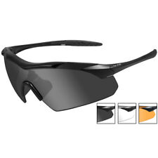 Wiley X WX Vapor Glasses 3 Spare Lenses Tactical AntiScratch Matte Black Frame