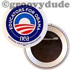 Official Educators For Barack Obama 2012 NEA Teachers Pin Pinback Button Badge