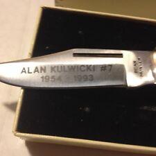 ALAN KULWICKI FROST CUTLERY KNIFE LOCK BLADE,1992 CHAMPION,1986 ROY.W-COA