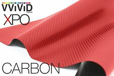 VViViD Blood Red Dry Carbon Fiber finish car wrap Vinyl 5ft x5ft decal 3mil film