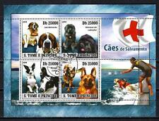 Chiens Saint Thomas et Prince (39) série complète de 4 timbres oblitérés