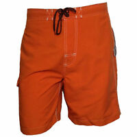Mens shorts Swimwear Trunk Swimming  FREE COUNTRY Surf Beach Vacation ORANGE