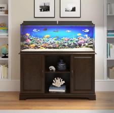 75 Gallon Aquarium Stand Fish Tank Holder Cabinet Storage Shelves Modern Brown