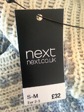 BNWT NEXT Grey Cream Hooded Sleeveless Cardigan Waistcoat Size S/M RRP £32