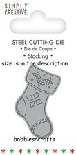DOVECRAFT SIMPLY CREATIVE SMALL STEEL CUTTING DIE - CHRISTMAS STOCKING