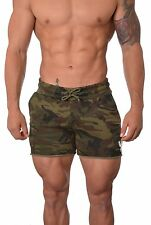 Men's Bodybuilding Shorts Gym Training Pockets Workout French Terry Cotton 102