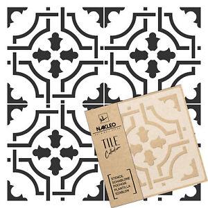 AMADORA Pochoir en PLASTIQUE réutilisable pour tuiles // Géométrique Marocain