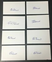 Bobby Doerr Lot of (8) Signed Index Cards Authentic Autograph Hall of Fame
