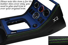 GREEN STITCH 2X CENTER CONSOLE SIDE TRIM LEATHER SKIN COVERS FITS BMW Z3 95-03