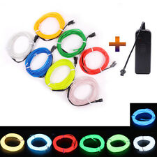 LED Atmosphere Glow EL Wire Neon String Strip Lights Rope Tube Lamp + Controller