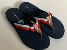 NEW! TOMMY HILIFIGER JOLLI SIGNATURE LOGO BLUE RED WHITE SLIPPERS SANDALS 6 36