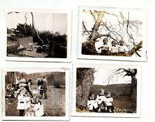 portraits enfants famille - 4 photos anciennes amateur polaroïd insta. 1960