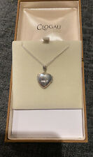Clogau Gold Heart Locket Pendant Chain Necklace - 925 Silver + 9ct Gold In Box